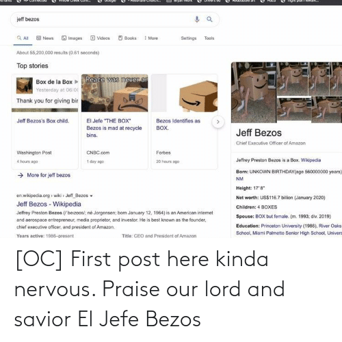 jefe: [OC] First post here kinda nervous. Praise our lord and savior El Jefe Bezos
