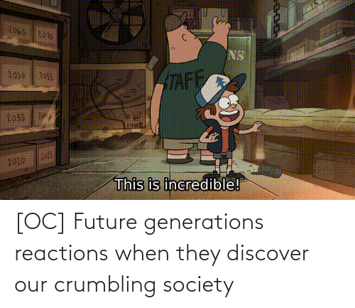 reactions: [OC] Future generations reactions when they discover our crumbling society
