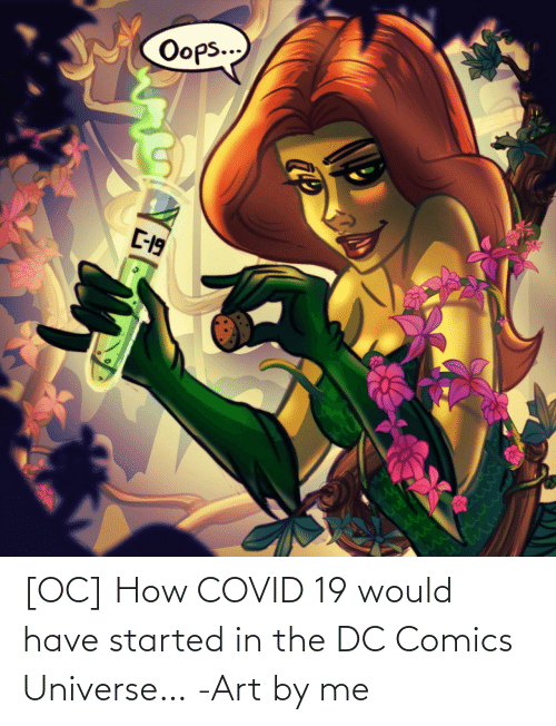 Comics: [OC] How COVID 19 would have started in the DC Comics Universe… -Art by me