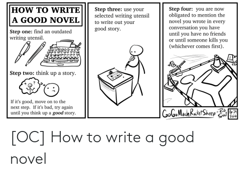 Write: [OC] How to write a good novel