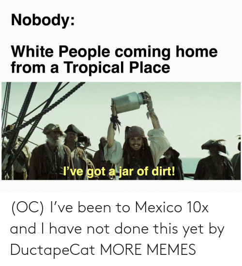 Mexico: (OC) I've been to Mexico 10x and I have not done this yet by DuctapeCat MORE MEMES