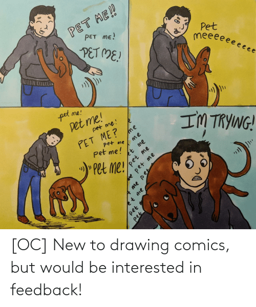 drawing: [OC] New to drawing comics, but would be interested in feedback!