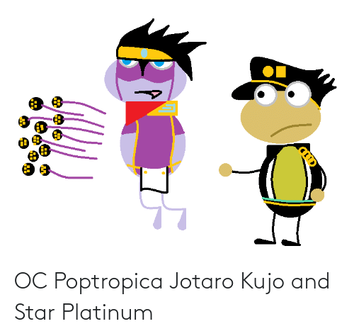 Star, Poptropica, and Platinum: OC Poptropica Jotaro Kujo and Star Platinum