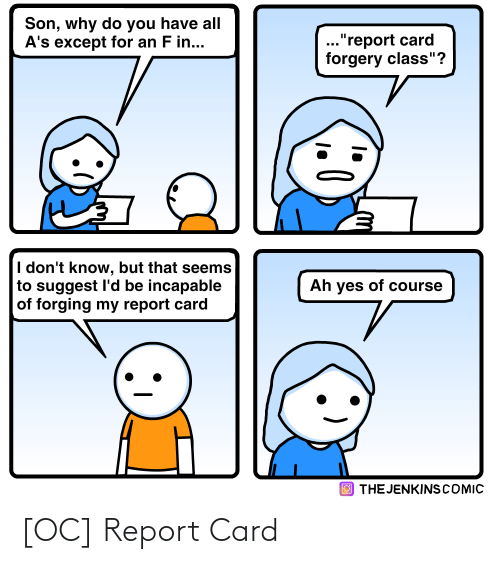report card: [OC] Report Card