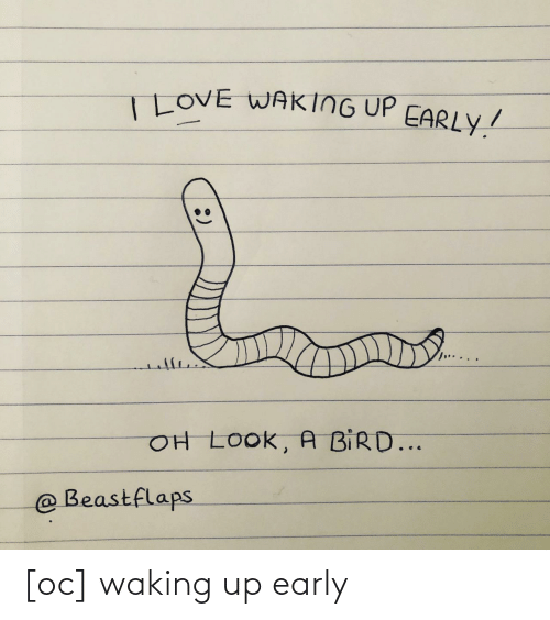 Waking Up, Waking Up Early, and Early: [oc] waking up early