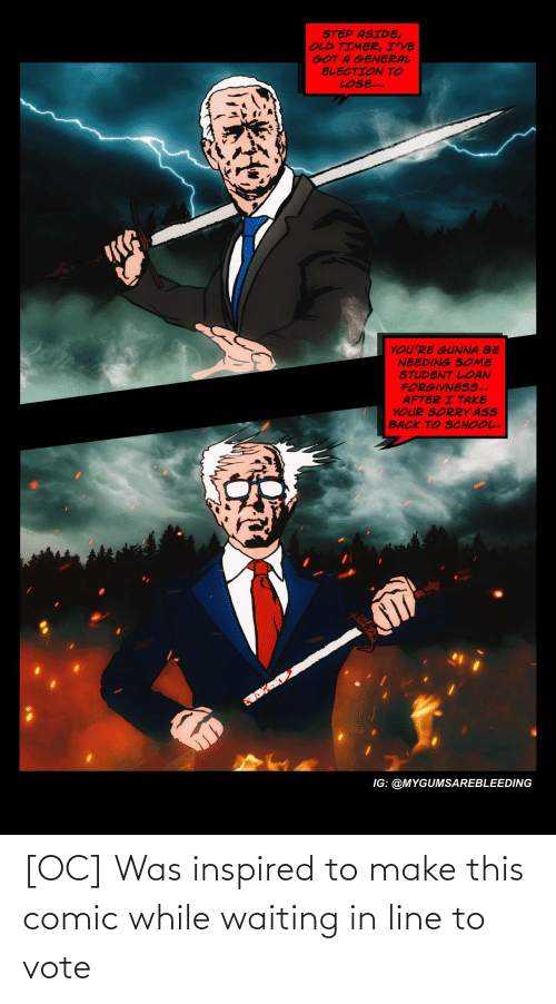 vote: [OC] Was inspired to make this comic while waiting in line to vote