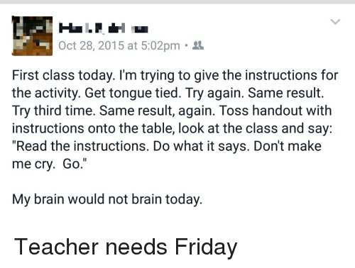 Friday Teacher