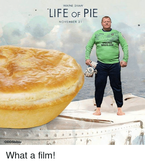 Wayned: ODDSbible  WAYNE SHAW  LIFE OF PIE  NOVEMBER 21  WASTE COM What a film!