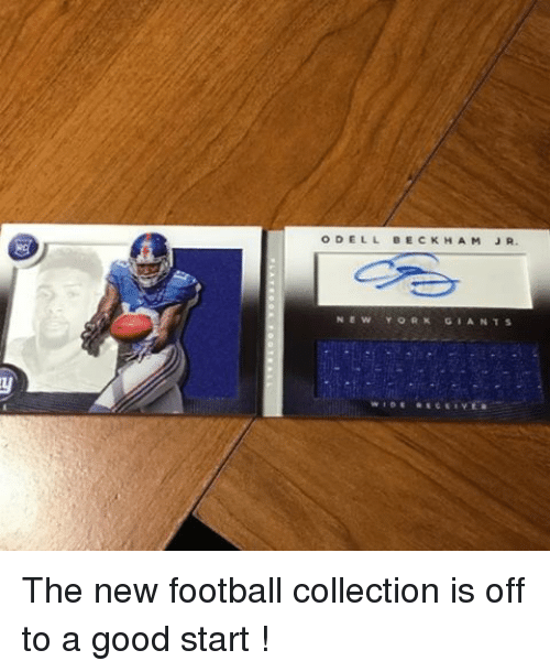 Football, Memes, and New York: ODELL BECKHAM JR.  NEW YORK GEANTS  WIDE RECEIVES The new football collection is off to a good start !
