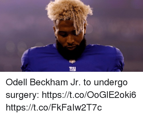 Memes, Odell Beckham Jr., and 🤖: Odell Beckham Jr. to undergo surgery: https://t.co/OoGlE2oki6 https://t.co/FkFaIw2T7c