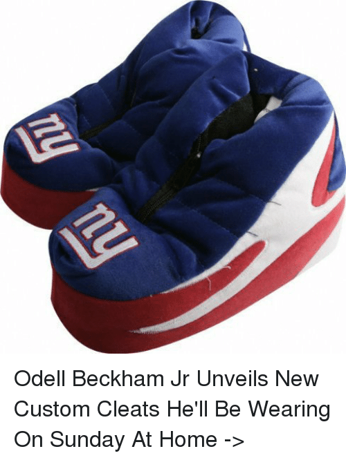 Memes, Odell Beckham Jr., and 🤖: Odell Beckham Jr Unveils New Custom Cleats He'll Be Wearing On Sunday At Home ->