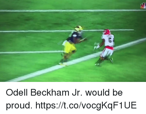 Memes, Odell Beckham Jr., and Proud: Odell Beckham Jr. would be proud. https://t.co/vocgKqF1UE