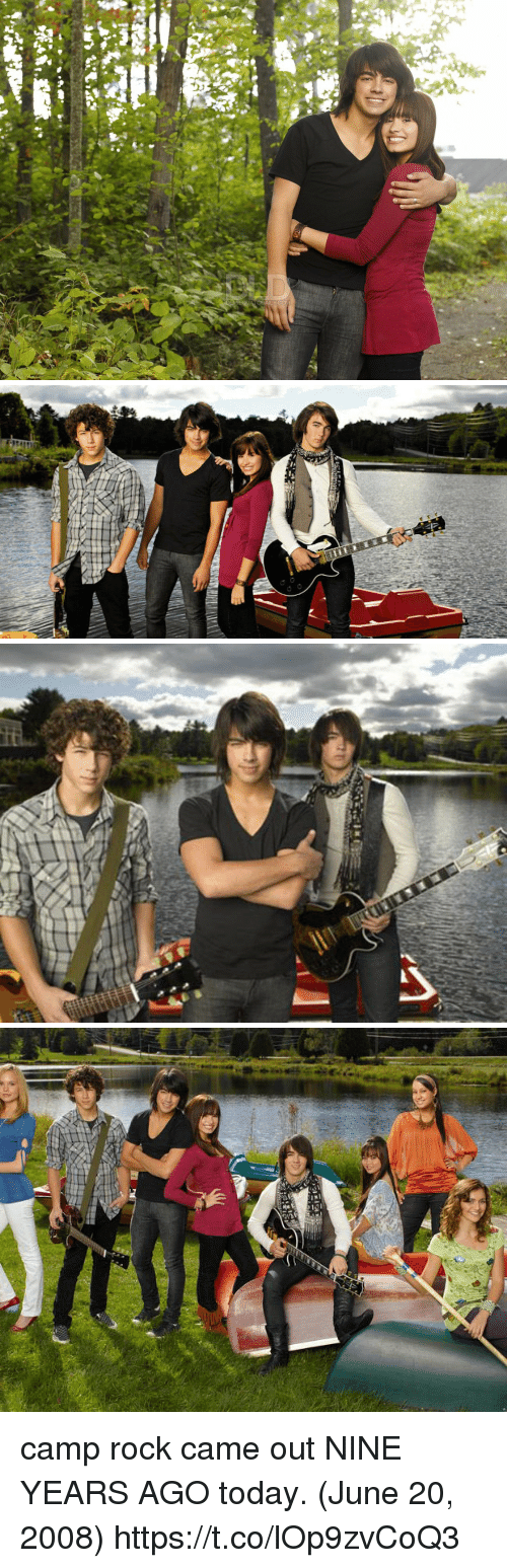 tico: OEALY CO   ag   tiCo camp rock came out NINE YEARS AGO today. (June 20, 2008) https://t.co/lOp9zvCoQ3