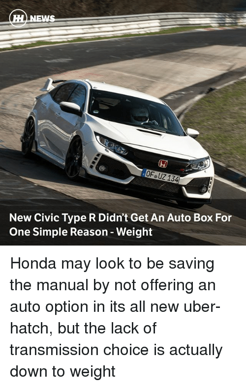 honda civic type r manual transmission