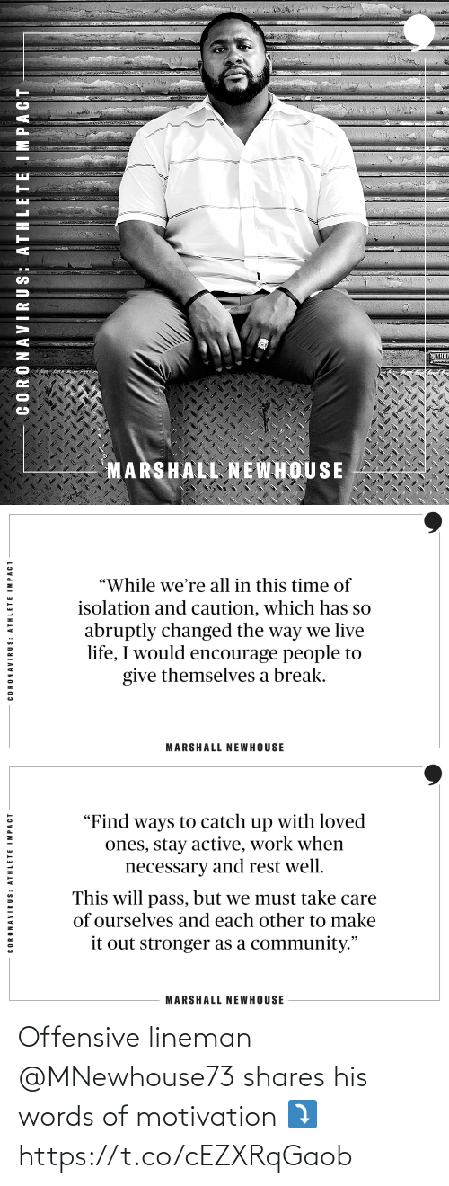 motivation: Offensive lineman @MNewhouse73 shares his words of motivation ⤵️ https://t.co/cEZXRqGaob