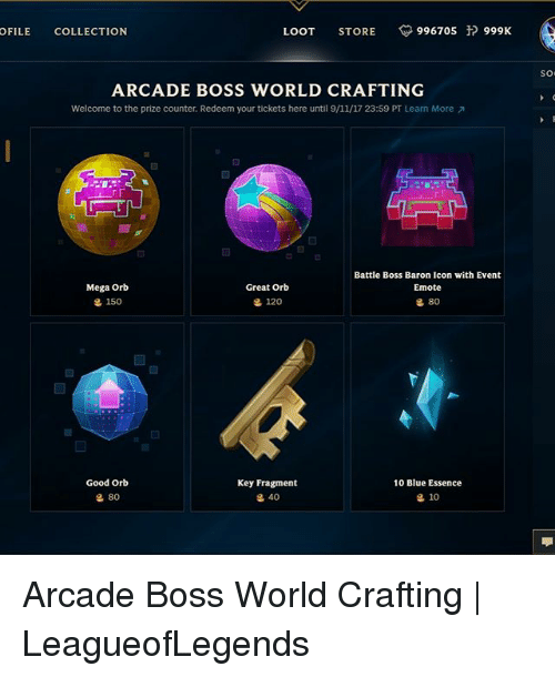 Arcade Boss World Crafting Which Orb Best
