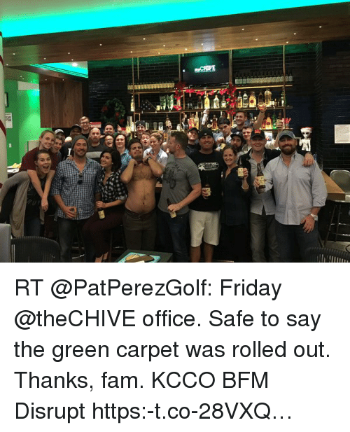 thechive office. Fam, Friday, And Office: Oh ! ら RT @PatPerezGolf: Friday @ Thechive Office