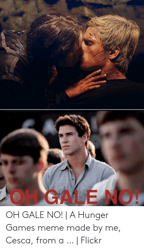 Hunger Games Meme: OH GALE NO! OH GALE NO! | A Hunger Games meme made by me, Cesca, from a … | Flickr