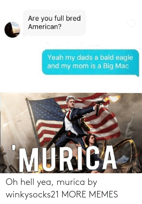 Hell: Oh hell yea, murica by winkysocks21 MORE MEMES