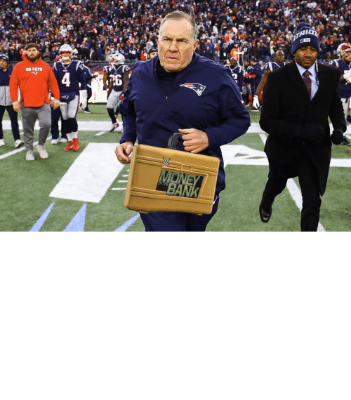 triple: OH MY! Bill Belichick is cashing in his MITB Briefcase! The Super Bowl is now a triple threat! https://t.co/4UZRCwWTjL