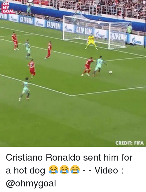 Cristiano Ronaldo, Fifa, and Memes: OH  MY  CREDIT: FIFA Cristiano Ronaldo sent him for a hot dog 😂😂😂 - - Video : @ohmygoal