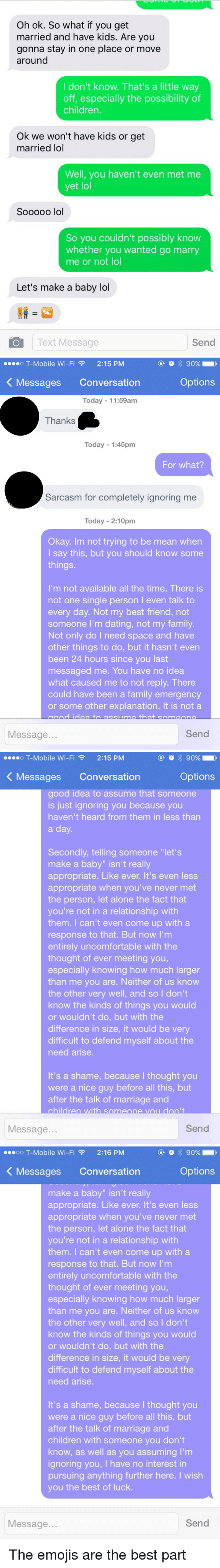 How to respond to online dating message not interested