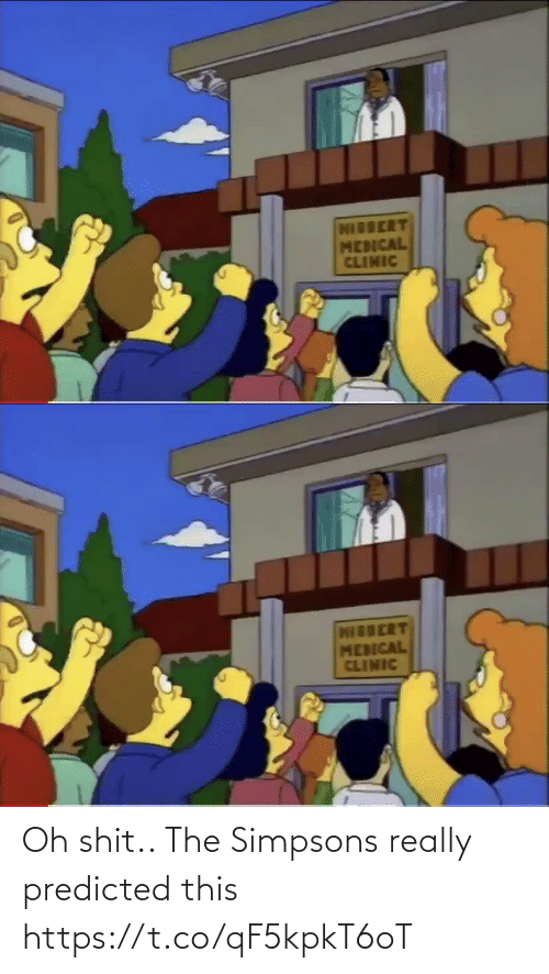 The Simpsons: Oh shit.. The Simpsons really predicted this https://t.co/qF5kpkT6oT