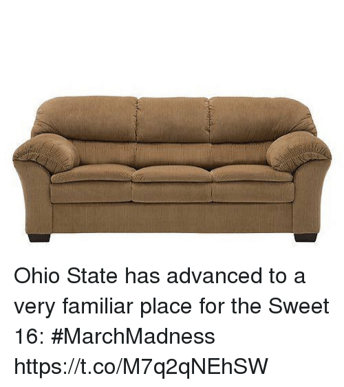 marchmadness: Ohio State has advanced to a very familiar place for the Sweet 16: #MarchMadness https://t.co/M7q2qNEhSW