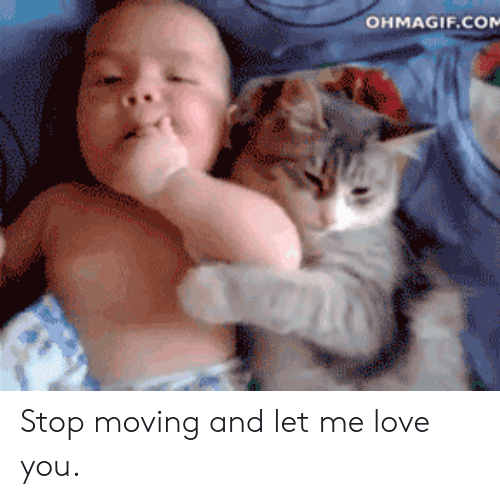 Ohmagif: OHMAGIF.COM Stop moving and let me love you.