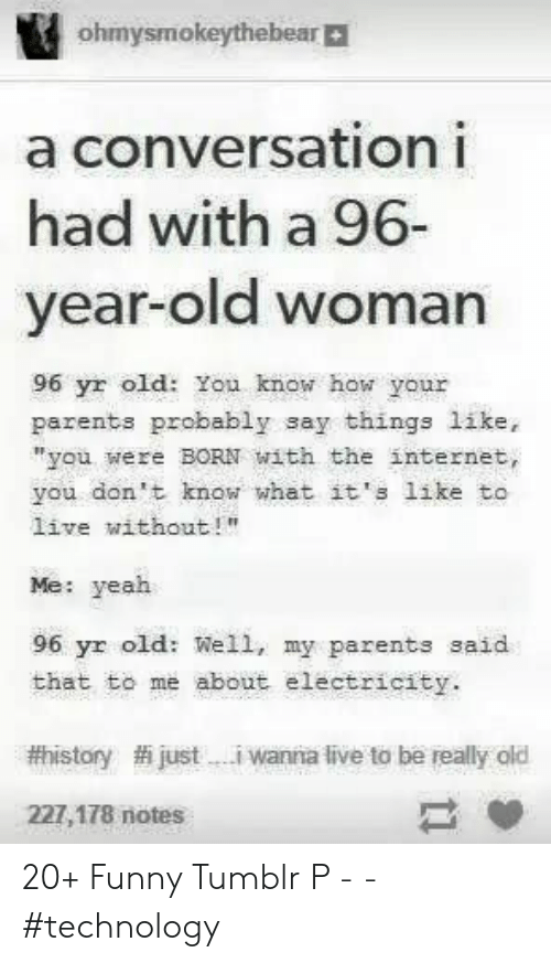"""Old woman: ohmysmokeythebear