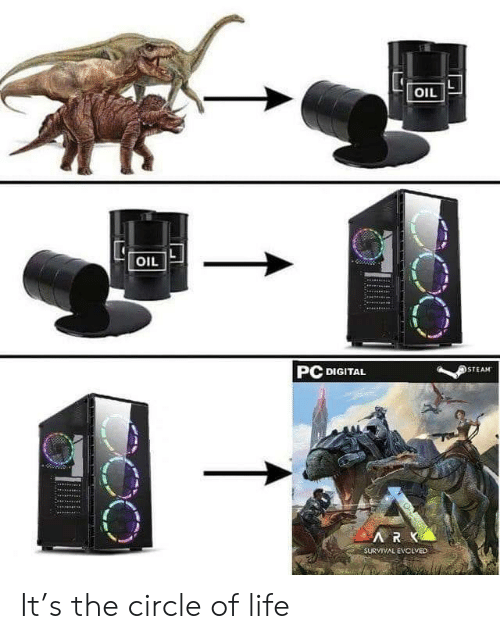 The Circle: OIL  OIL  PC DIGITAL  STEAM  ARK  SURVIVAL EVCLVED It's the circle of life