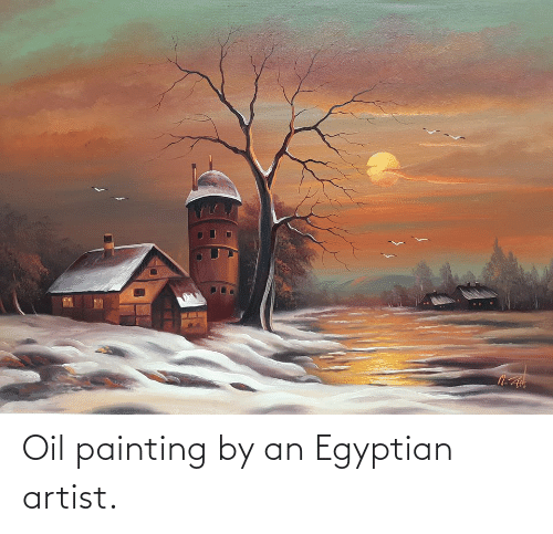 Egyptian: Oil painting by an Egyptian artist.