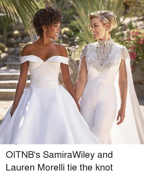 Knotting: OITNB's SamiraWiley and Lauren Morelli tie the knot