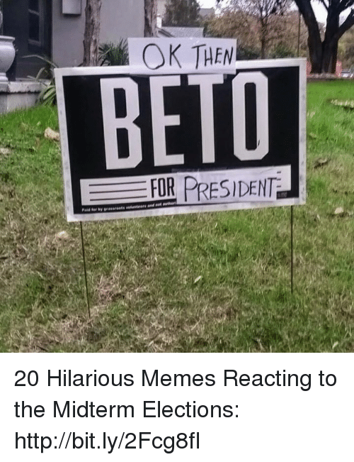 midterm: OK THEN  BETD  FOR PRESIDENT 20 Hilarious Memes Reacting to the Midterm Elections: http://bit.ly/2Fcg8fI