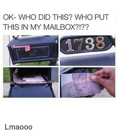 Dank Memes: OK- WHO DID THIS? WHO PUT  THIS IN MY MAILBOX?!??  1 88 Lmaooo