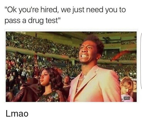 "Memes, Drug Test, and 🤖: ""Ok you're hired, we just need you to  pass a drug test"" Lmao"