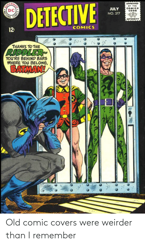 Covers: Old comic covers were weirder than I remember