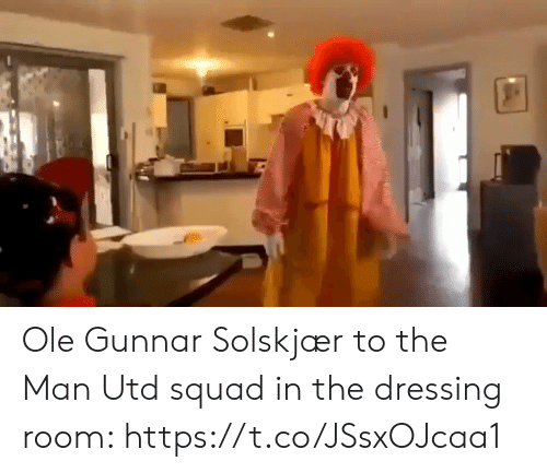 dressing: Ole Gunnar Solskjær to the Man Utd squad in the dressing room: https://t.co/JSsxOJcaa1