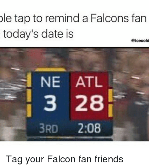 best thing about dating a falcons fan The atlanta falcons were a bit more of a surprise based on preseason expectations, but they showcased great offense throughout the season and strong defense as of late to win the fans are likely thrilled to watch their team reach the super bowl, but the team itself still has its sights on a higher goal.