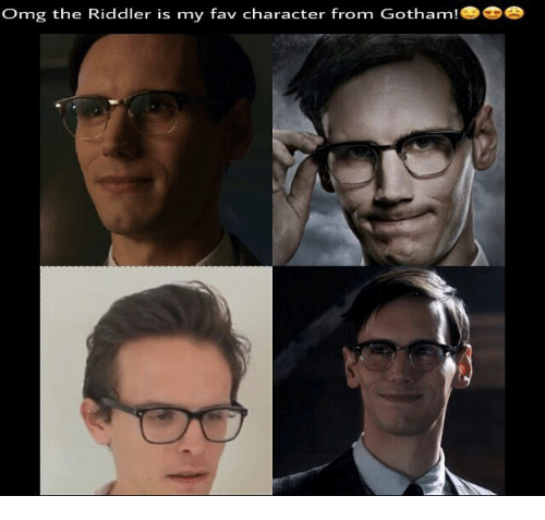 omg the riddler is my fav character from gotham 26649630 omg the riddler is my fav character from gotham meme on sizzle