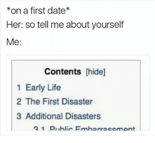 Tell me about yourself dating