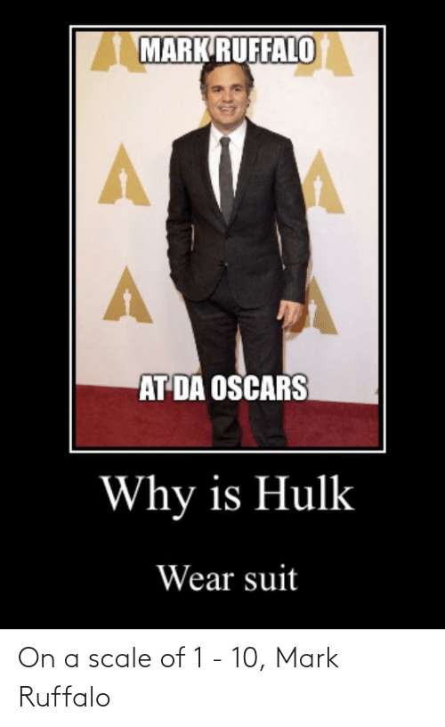 On A Scale Of: On a scale of 1 - 10, Mark Ruffalo
