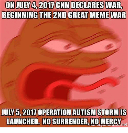 On JULY 42017 CNN DECLARES WAR BEGINNING THE 2ND GREAT