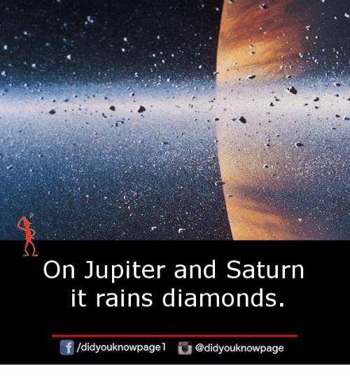 Memes, Jupiter, and Saturn: On Jupiter and Saturn  it rains diamonds  didyouknowpagel@didyouknowpage