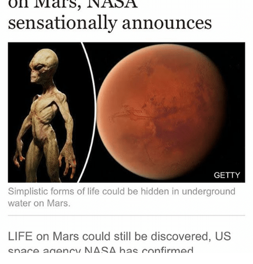 an analysis of life forms on mars And that raises an obvious question: what sorts of life forms could actually live there any life on mars today is almost certainly microbial, but beyond that, we can't be sure of anything until.