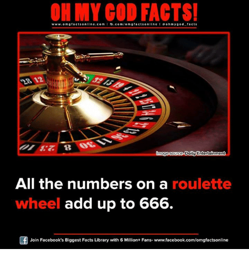 Roulette adds up 666