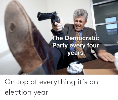 election: On top of everything it's an election year