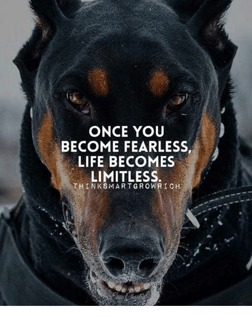 Think Smart: ONCE YOU  BECOME FEARLESS,  ALIFE BECOMES  LIMITLESS.  THINK SMART GROW RICH