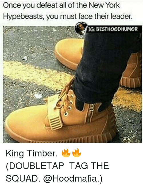 Hypebeast, Memes, and New York: Once you defeat all of the New York  Hypebeasts, you must face their leader.  IG: BESTHOODHUMOR King Timber. 🔥🔥 (DOUBLETAP � TAG THE SQUAD. @Hoodmafia.)