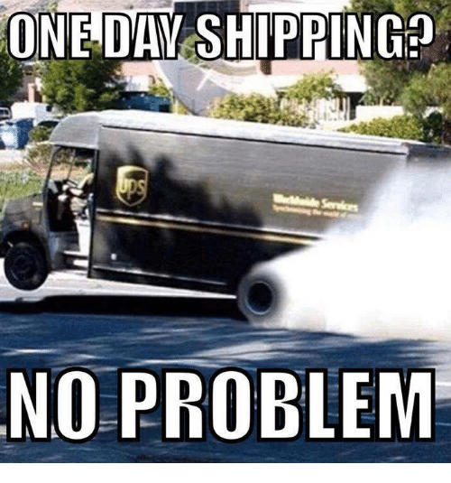 ONE DAY SHIPPING NO PROBLEM